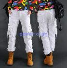 Womens Leisure Loose Cargo Outdoor Combat Pocket Pants Military Overall Trousers
