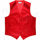 New Man Tuxedo Waistcoat Red Vest only Formal Wedding Party 5XL 6XL for sale  Shipping to Nigeria