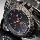 SHARK Fashion Men's Sport Black Stainless Steel Chronograph Quartz Wrist Watch