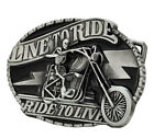 Live To Ride Biker Skull Belt Buckle