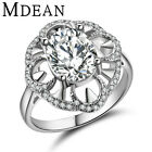 Noble White Gold-Color Engagement Rings for Women Crystal Zircon Jewelry MSR315