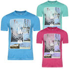 Tokyo Laundry Mens Designer Pasadena T Shirt Burnout Effect LA Print Summer Top