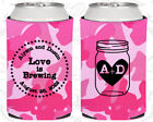 Pink Camouflage Wedding Koozies Koozie Favors Gift Ideas Decorations Gifts (86)