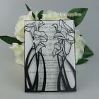 Laser Cut Pearl Black Floral Lace Wedding Invitations Personalized Free printing