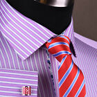 Pink Magenta Striped Mens Business Dress Shirt Formal Luxury Blue Paisley Floral