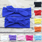 UK NEW Baby Girl Kid Toddler Bow Hairband Headband Stretch Turban Knot Head Wrap