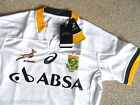 S M L XL SOUTH AFRICA RUGBY ALTERNATE AWAY TEST 'BODYFIT' JERSEY ASICS Shirt