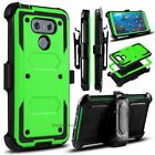 For LG G6 Case, Hybrid Defender Protective Phone Cover with Belt Clip /Kickstand