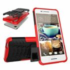 For HTC One X9 Tire Grain Hybrid Armor Hard Kickstand Protective Phone Cover