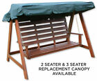 Woodside Green 2 & 3 Seater Garden Swing Chair Replacement Canopy Spare Cover