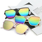 Women Retro Frame Mirrored Sunglasses Oversized Cat Eye Glasses Eyewear SH
