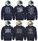 HOODED FUNNY LOGO SWEATSHIRTS DOG PAW PRINT FALLING OFF THE HORSE WITH POCKETS