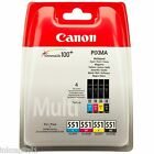 Canon CLI-551BK, CLI-551C, CLI-551M, CLI-551Y - Set of 4 Original Ink Cartridges