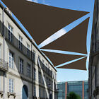 Brown Sun Shade Sail Permeable Equilateral Triangle Canopy Lawn Patio PoolAwning
