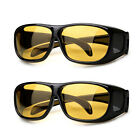 New HD Vision Wrap Arounds Night Ultra Glasses Sun Fashion Fit Over Prescription