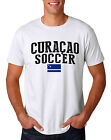 Curacao Soccer Team T-shirt Adults Men's shirt Jersey 100 % cotton  any sports image