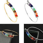 1pc Women Glamour Jewelry Lady 7 Chakra Healing Yoga Beads Cuff Bangle Bracelets