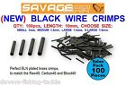 SAVAGE GEAR WIRE CRIMPS FOR SEA COARSE FISHING LINE MONO PIKE SNAP TACKLE TRACE