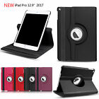 "For Apple iPad Pro 12.9"" (2017) New Leather 360 Rotating Smart Stand Case Cover"