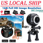 US 360 Wifi 4K HD Ultra Panoramic Sport Camera Action Dash VR Cam +2Battery +32G