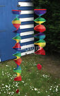 Bamboo Rainbow Wind Spinner Mobile Chime Garden Home Decoration Pride