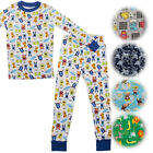 Kids Two-Piece Organic Cotton Pajamas Little Boys Toddler PJs Pants Shirt Child