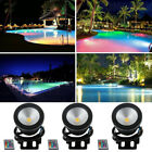 1-4PCS Submersible RGB LED Pond Spot Lights for Underwater SwimmingPool Fountain