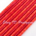 4x6mm Natural Button Coral Gemstone Beads For DIY Jewelry Making Strand 15""