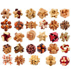 Hot! IQ  3D Wooden Brain Teaser Burr Interlocking Puzzle Game Toy for Adults TB