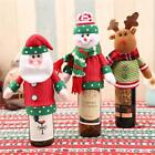 Santa Snowman Elk Wine Bottle Cover Wrap Bag Christmas Party Xmas Table Decor LD