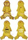 Raining Umbrella Leader Yellow Pet Cat Dog Puppy Waterproof Raincoat Clothes
