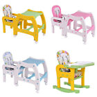 3 in 1 Baby Convertible Play Table Seat Booster Toddler Feeding Tray High Chair