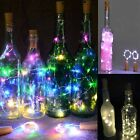 Glass Wine Bottle Champagne Cork LED Light Submersible Copper Wire String Lights