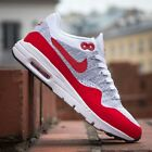 Nike Air Max 1 Ultra Flyknit Women's Gray & Red Running Shoes 843387-101 $160