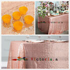 Choose Size Rose Gold Rectangle Sequin Tablecloth for Party Wedding Table