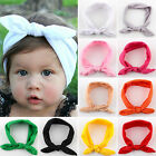 Baby Kids Toddler Girls Rabbit Bow Knot Turban Headband Hairband Headwear 10PCS