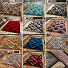 LARGE CHUNKY THICK GEOMETRIC TRENDY 3D TEXTURED TRELLIS NOBLE HOUSE NH8199 RUGS