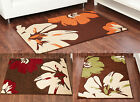 MED TO EXTRA LARGE FLORAL FLOWER CHOCOLATE BROWN,ORANGE,RED,LIME GREEN,BEIGE RUG