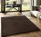 OVERSTOCK CLEARANCE SMALL - EXTRA LARGE SHAGGY 5cm PILE DARK CHOCOLATE BROWN RUG
