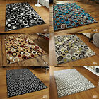 LARGE HIGH DENSITY HEATSET TRENDY GEOMETRIC FUNKY MODERN PATTERNED MATRIX RUGS