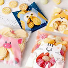 100x Animals Candy Cake Biscuits Cookies Bags Self-adhesive Plastic Gifts Bags B