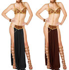 Sexy Greek Goddess Costume Long Dress Halloween Fancy Party 3PCS Gown two colors