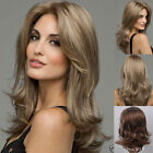 Fashion Women Lady Curly Long Wavy hair Golden Blonde Wig heat resistant