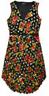 Ladies Floral Polka Dot Dress New Womens Pleated Curve Sun Dress UK 16 - 26