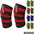 XOGO Knee Wraps Weight Lifting Body Building Gym Training Support Leg Strap