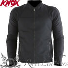 KNOX ZEPHYR ABRASION RESISTANT SUMMER VENTED  MOTORCYCLE JACKET + BACK PROTECTOR