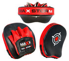 New Smartie Pads Focus Curved Mitt Maxx MMA Kick Boxing Training Black White Red