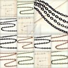 4M 13.12feet Flat Cable Chain Unfinished Chains Necklaces 3.25/3.8/4.2mm BW