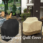 """New BBQ 64"""" Outdoors Grill Cover Black/Beige Yard Heavy Duty Waterproof Barbecue"""