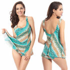 Girl's Bikinis Set Swimwear Vest Swimsuit Women's Swimwear Dress Floral Big Size